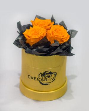 Kutija sa 3 ekvadorske ruže